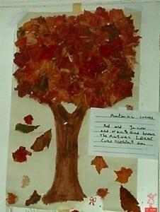 home made fall tree
