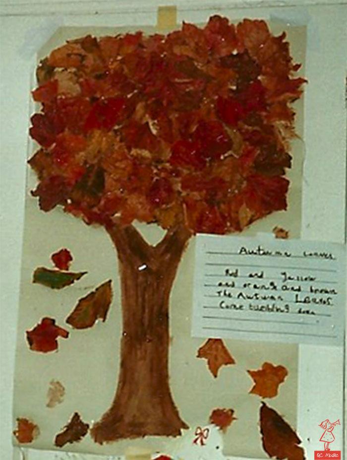 home made autumn tree