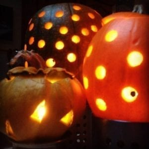 Drilled halloween lanterns