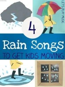 4 Rain Rhymes to Get Kids Moving