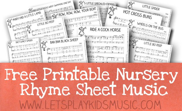 graphic about Free Printable Nursery Rhymes titled Free of charge Products - Totally free Sheet Songs and Principle Printables