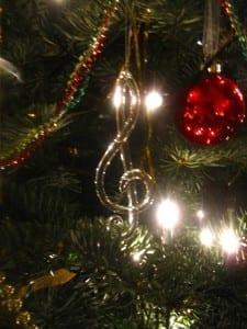 music christmas tree decoration