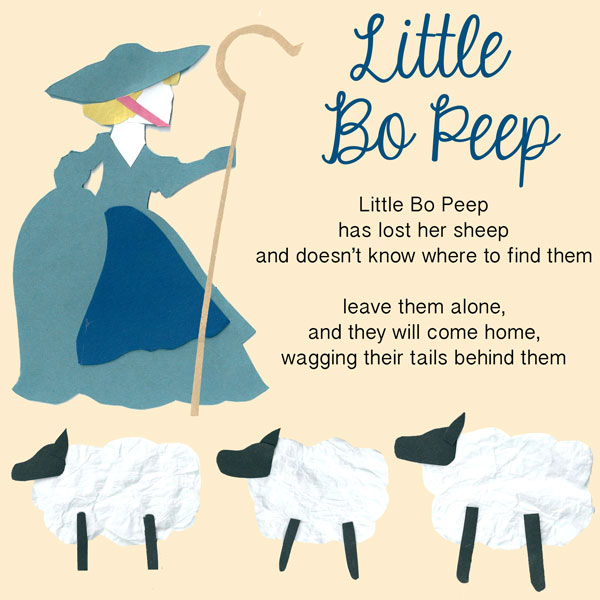 Little Bo Peep Hide And Seek Game - Let's Play Music