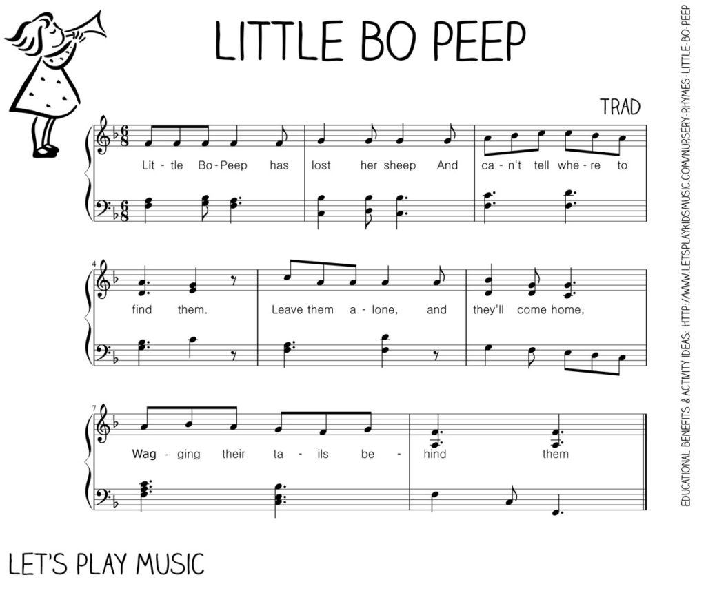 Let's Play Music : Free Sheet Music - Little Bo Peep