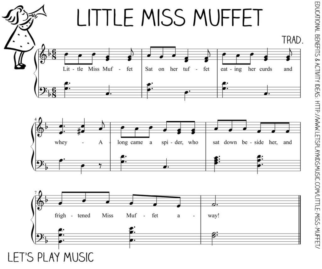 Let's Play Music - Free Sheet Music - Little Miss Muffet
