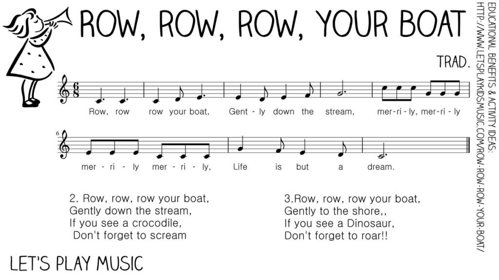 Let's Play Music - Free Sheet Music - Row Row Row Your Boat