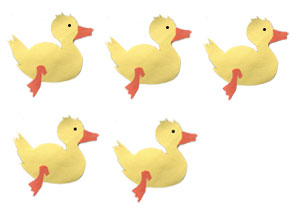 Five Little Ducks Went Swimming One Day : Counting Songs