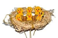 Let's Play Music: Easter Songs - 6 Brown Eggs in a Nest of Hay - Practicing counting & subtracting