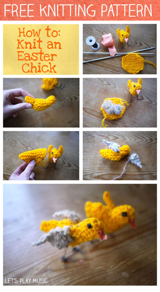 free knitting pattern for a little Easter chick