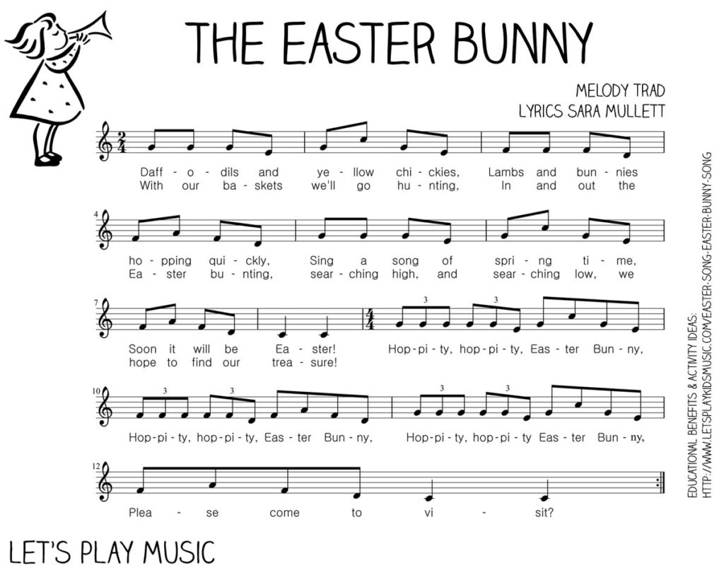 Let's Play Music : Free Sheet Music - The Easter Bunny Song