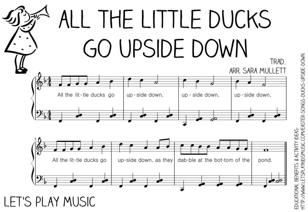 Let's Play Music : Free Sheet Music - All The Little Ducks Go Upside Down