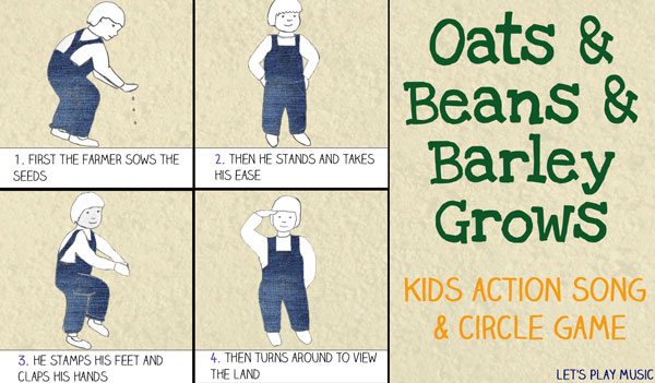 Let's Play Music: Oats & Beans & Barley Grow - kids action song and circle game