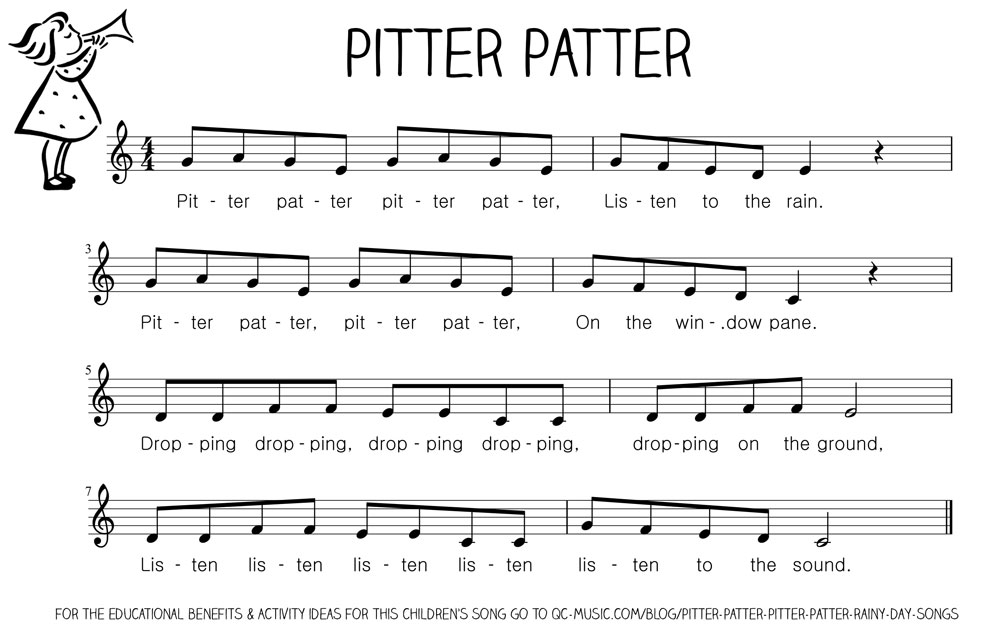 Lyric rain song lyrics : Pitter Patter, Pitter Patter : Rainy Day Songs