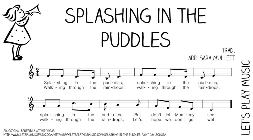 Let's Play Music : Free Sheet Music - Splashing in the Puddles