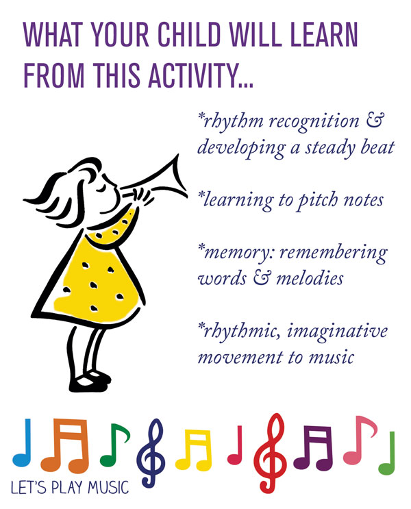 Educational benefits of Trot, Trot, Trot : Knee Bobbing song - Let's Play Music