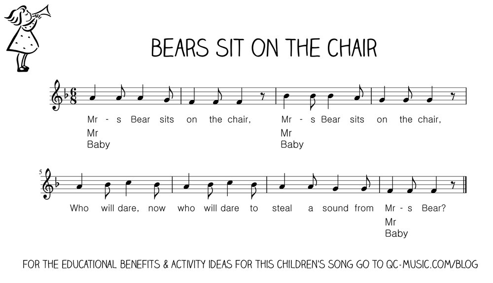 Let's Play Music : Free Sheet Music - Bears Sit on the Chair