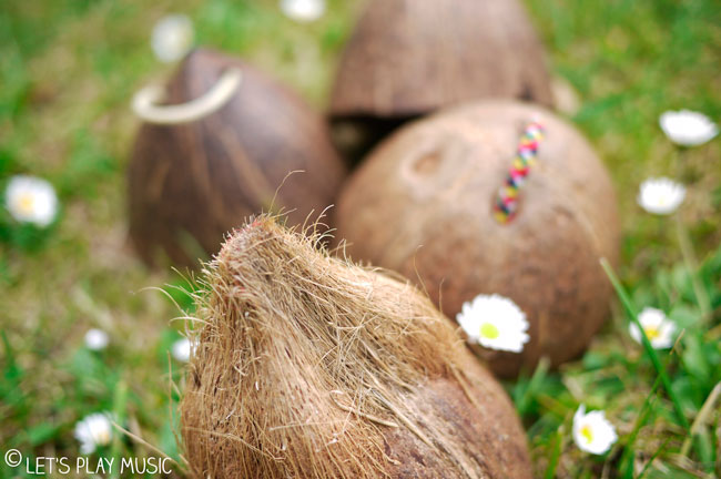 Let's Play Music : How to make homemade instruments out of coconut shells!