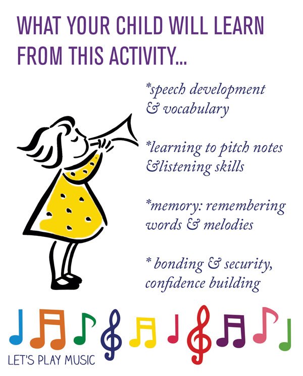 Educational Benefits for Teddy bear Songs and Nursery Rhymes ; Let's Play Music