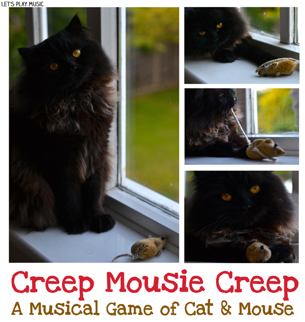 Let's Play Music : Creep Mousie Creep - fun circle game for kids - a musical cat and mouse!