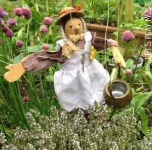 Garden songs - Mary Mary Quite Contrary Musical Pretend Play Activity