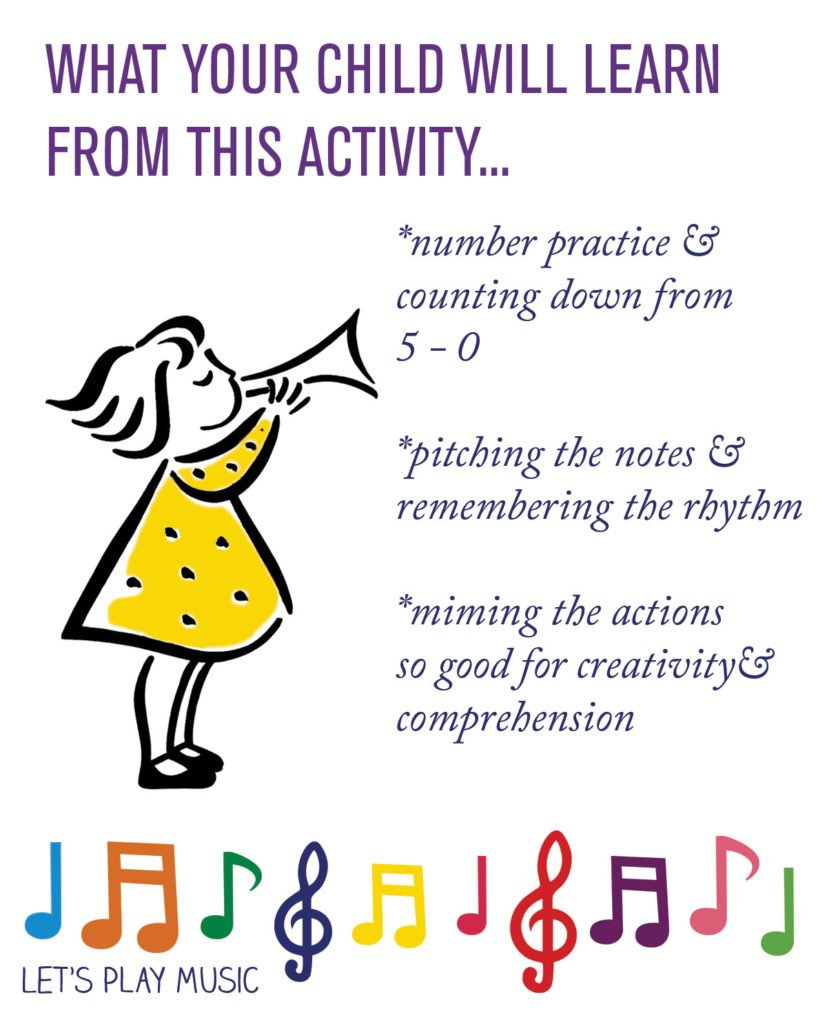 Educational nenefits of 5 little Monkeys - Let's Play Music