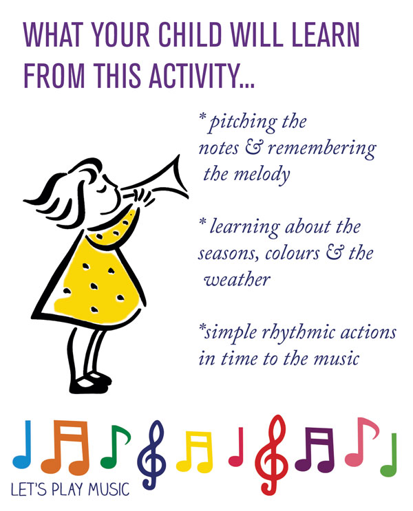 educational benefits of red & Yellow & Orange & brown - Let's Play Music