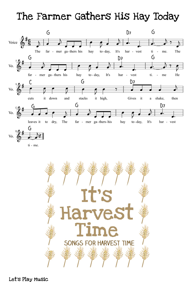 It's Harvest Time Sheet Music