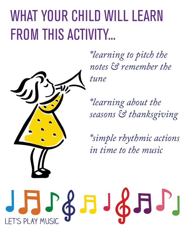The educational benefits of It's Harvest Time - Let's play Music