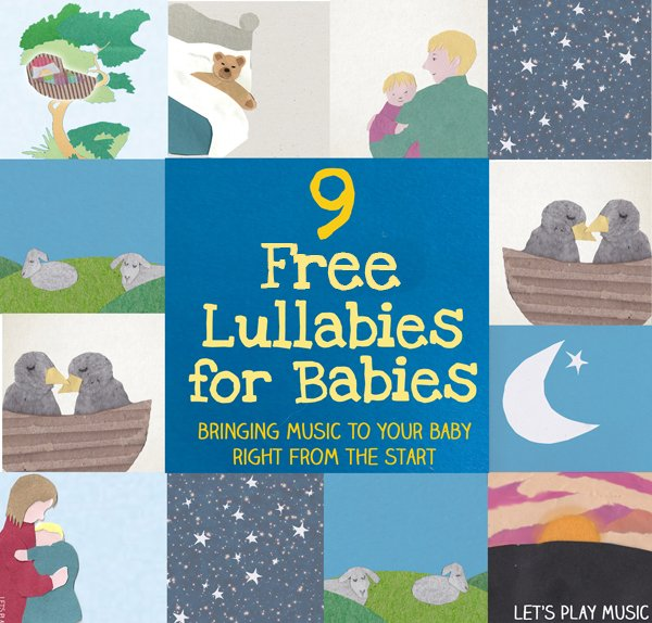 Lullaby Lyrics and Free Playable Lullabies for Babies - You can play the lullabies straight from the post like a playlist