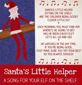 Santa's Little Helper Elf on the Shelf