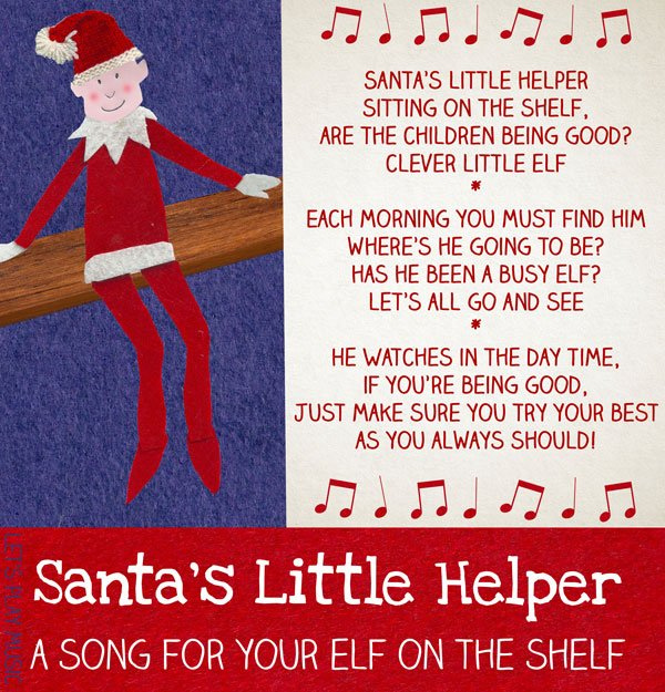 Santa's Little Helper - A cute and easy little song to sing while going to hunt for your elf every morning! - Let's Play Music