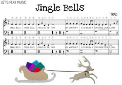 Jingle bells sheet music for kids let s play music
