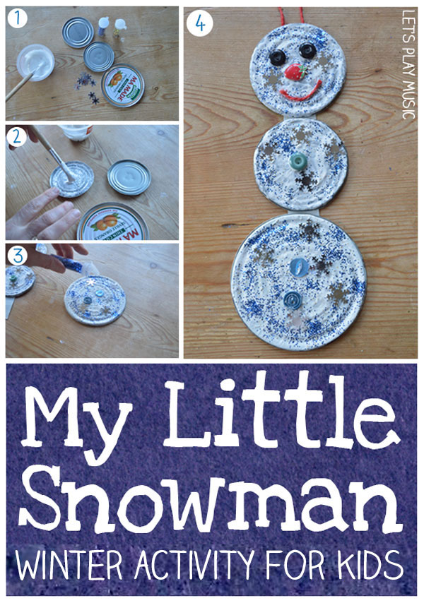Let's Play Music : Upcycled Snowman Craft & Song