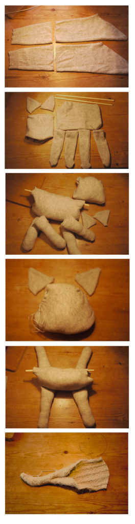 How to make a cat puppet out of an upcycled jumper