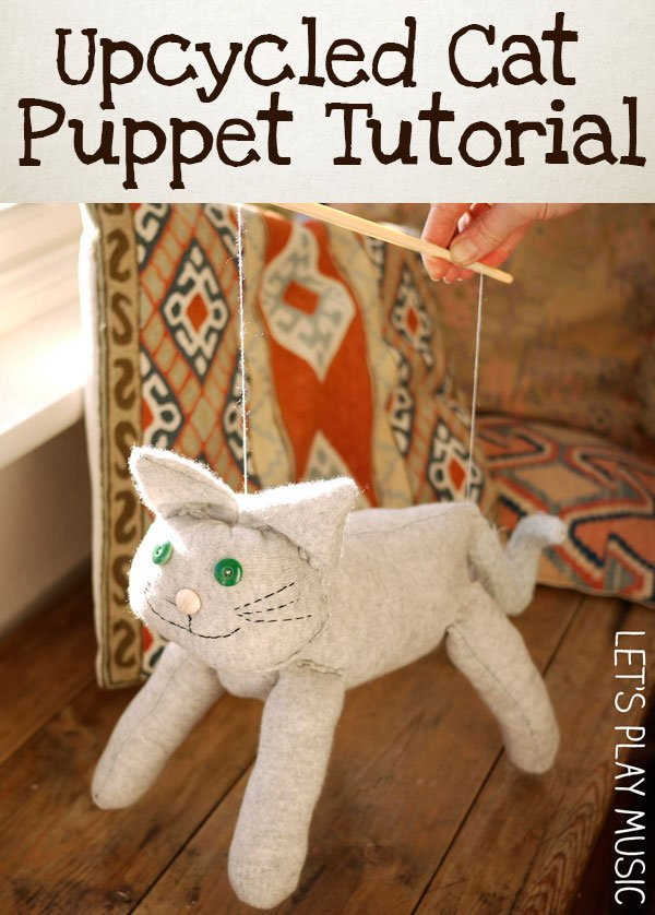 Upcycled Cat Puppet Tutorial : How to Make a Cat Puppet