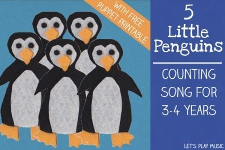 5 Little Penguins Counting Song