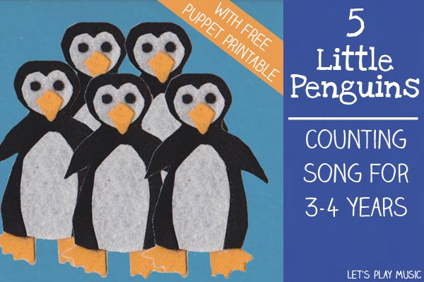 5 little penguins   counting songs