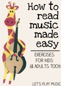 How to Read Music Made Easy - Exercises for Kids (& adults too!)