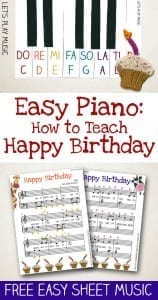 How to Teach : Happy Birthday - with free easy sheet music