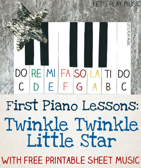 Twinkle Twinkle Little Star Easy Piano Music - Let's Play Music