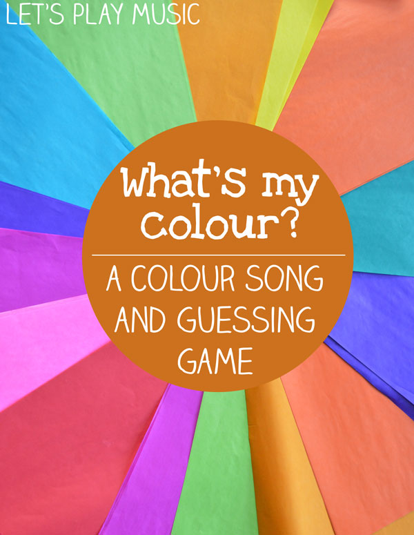 What's My Colour? Colour Song and Game