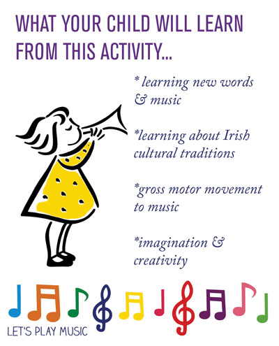 educational benefits of leprechaun song - lets play music