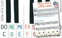 Mary Had A Little Lamb Easy Piano Music