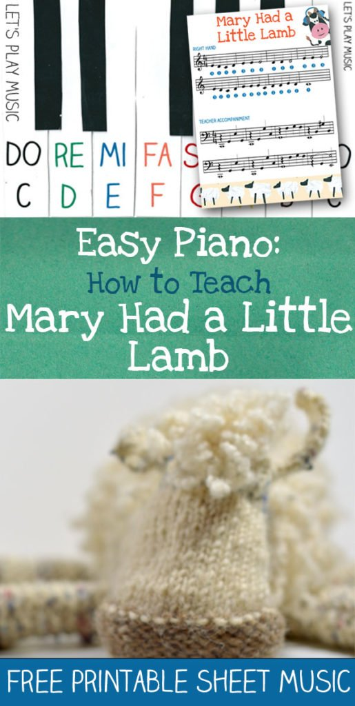 How to teach kids Mary Had a Little Lamb on the piano