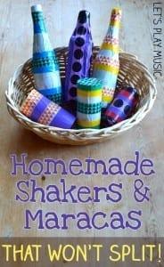 Homemade shakers and maracas