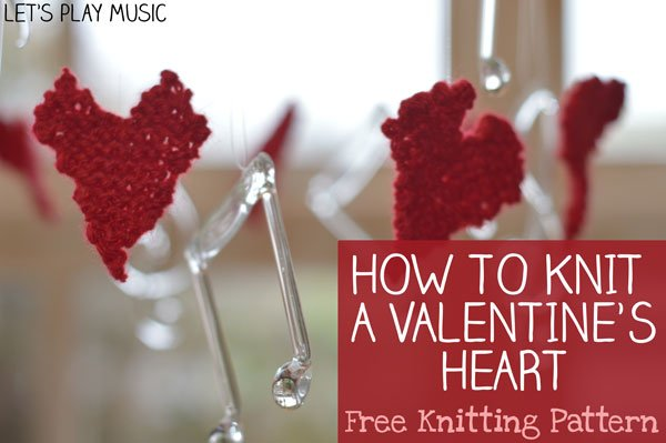 Knitted Valentine's Day Hearts
