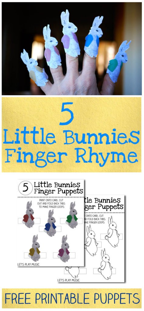 5 Little Bunnies Counting Song for Easter