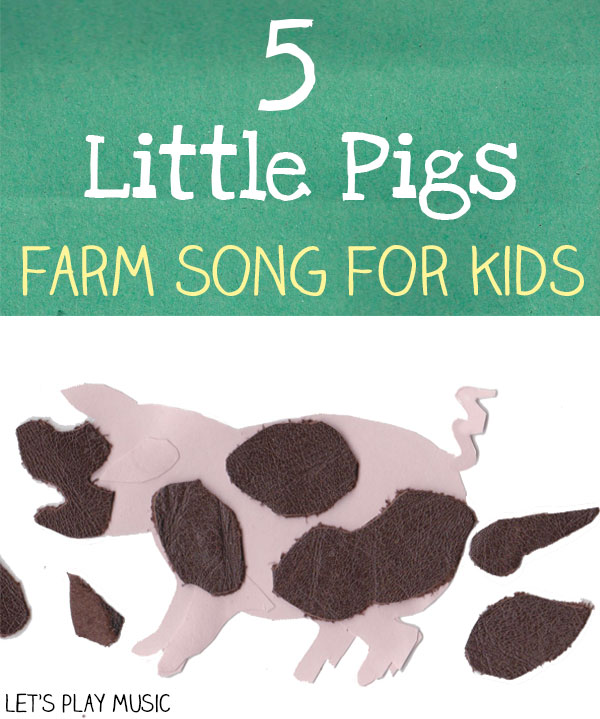 5 little pigs farm and counting song