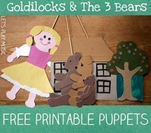 Goldilocks and the Three Bears Free Printable Puppets for Storytelling