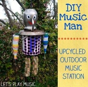 DIY upcycled music man
